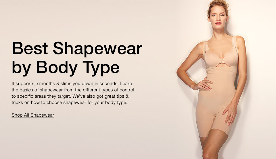 522d80bc2 Best Shapewear by Body Type - How to Buy Lingerie Guide - Macy s