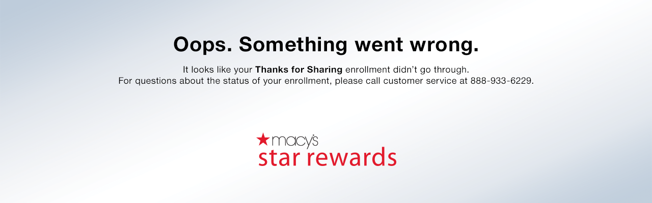 Thanks For Sharing – Macy's
