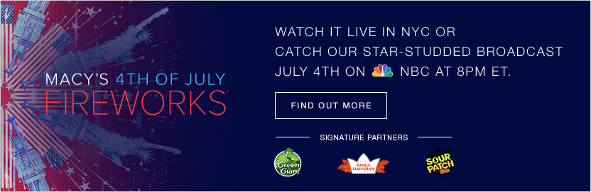 Watch it live in New York City or catch our star-studded broadcast July 4th on the National Broadcasting Company at 8PM Eastern Standard Time