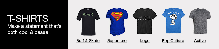 T-Shirts, Make a statement that's both cool and casual, Surf and Skate, Superhero, Logo, Pop Culture, Active
