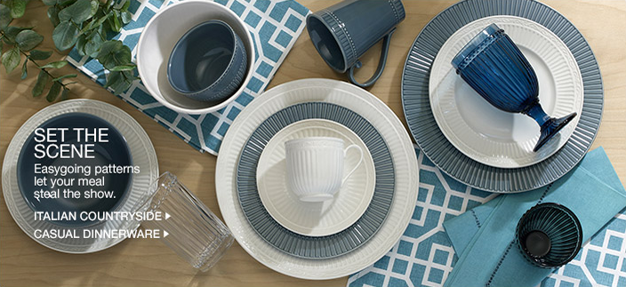 Set The Scene, Easygoing patterns let your meal steal the show, Italian Countryside, Casual Dinnerware