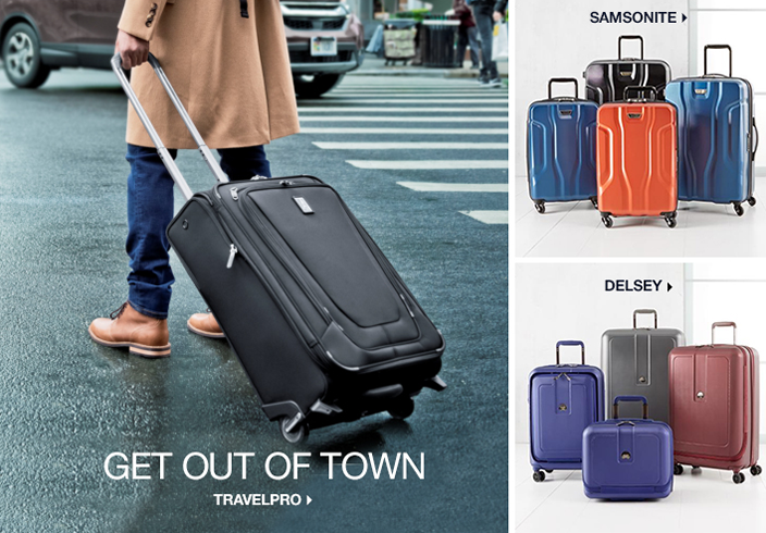 Get Out of Town, Travelpro, Samsonite, Delsey