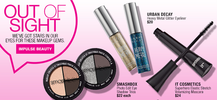 Out of Sight, We've Got Stars in Our Eyes For These Makeup Gems, Impulse Beauty, Urban Decay, Heavy Metal Glitter Eyeliner, $20, Smashbox, Photo Edit Eye Shadow Trios $22 each, it Cosmetics, Superhero Elastic Stretch Volumizing Mascara $24