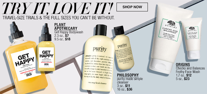 TTry it, Love it! Shop now, Trave,-Size Trials and The Full Sizes you Can't be Without, Plant Apothecary, Philosophy, Orgins