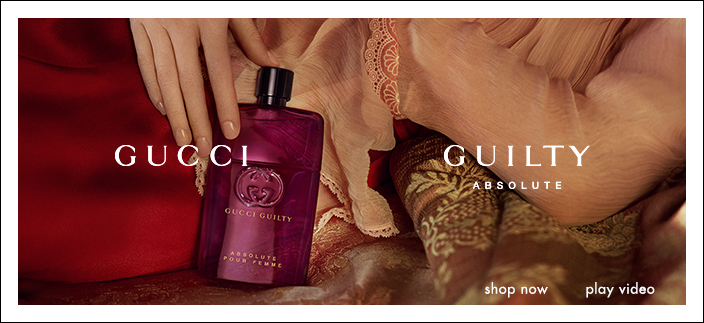 Gucci Guilty, Guilty, Absolute, Shop now, play video
