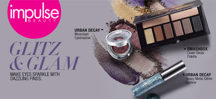 Impulse Beauty, Glitz and Glam, Make Eyes Sparkle with Dazzling Finds, Urban Decay, Smashbox, Urban Decay