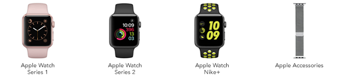Apple Watch Series 1, Apple Watch Series 2, Apple Watch Nike+, Apple Accessories