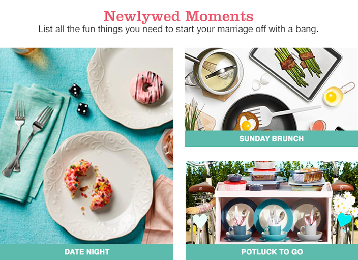 Newlywed Moments, List all the fun things you need to start your marriage off with a bang, Date Night, Sunday Brunch, Potluck to go