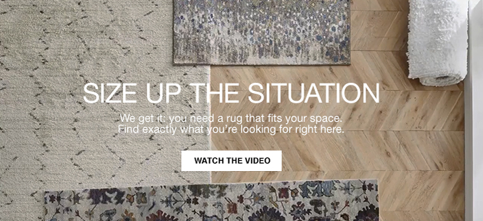 Size up The Situation, We get it: you need a rug that fits your space. Find exactly what you're looking for right here, Watch The Video