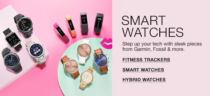 Smart Watches, Step up your tech with sleek pieces from Garmin, Fossil and more, Fitness Trackers, Smart Watches, Hybrid Watches
