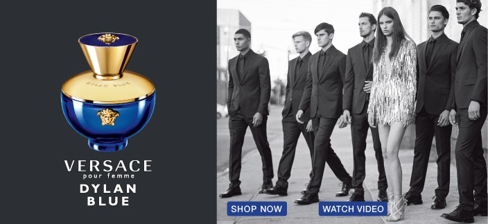Versace, Dylan Blue, Shop Now, Watch Video