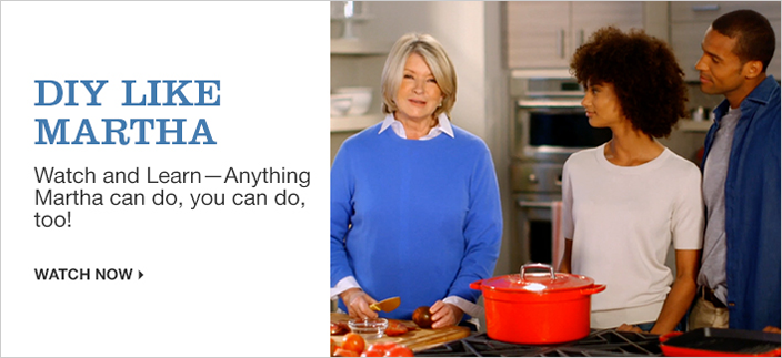 Diy Like Martha, Watch and Learn-Anything Martha can do, you can do, too! Watch now