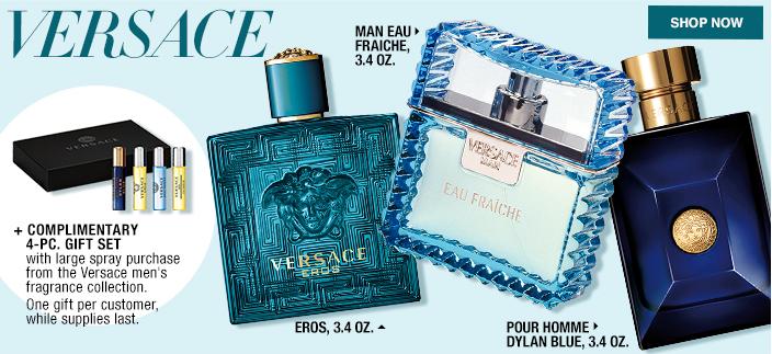Versace, Man Eau Fraiche 3.4 OZ, Eros, 3.4 OZ, Pour Homme Dylan Blue, 3.4 OZ, Shop now