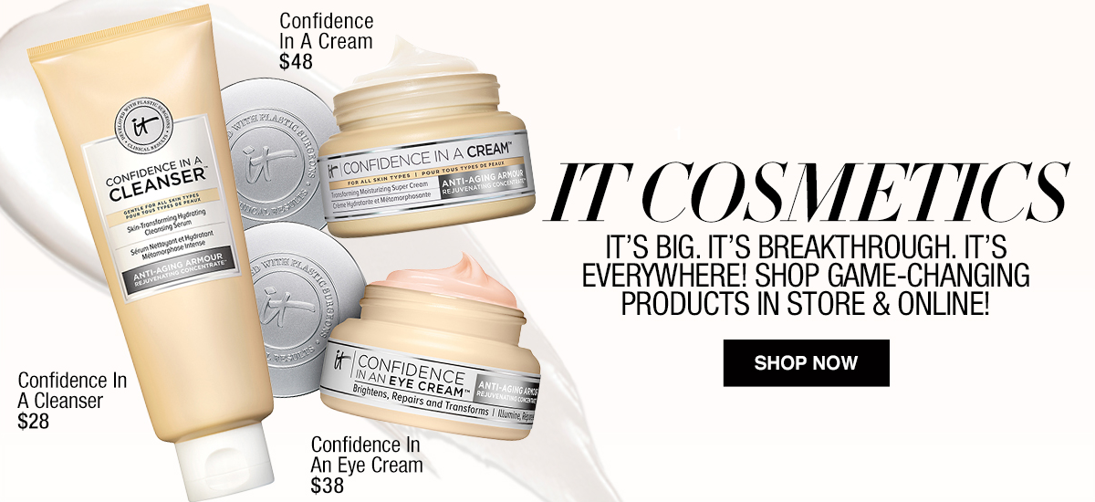 It Cosmetics It's Big, It's Breakthrough, It's Everywhere! Shop Game-Changing Products in Store and Online, Shop now