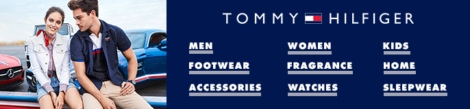 Tommy Hilfiger, Men, Women, Kids, Footwear, Frgrance, Home, Accessories, Watches, Sleepwear