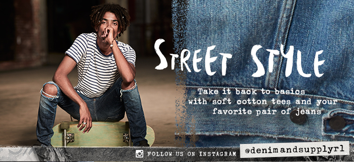 Street Style, Take it back to basics with soft cotton tees and your favorite pair of jeans