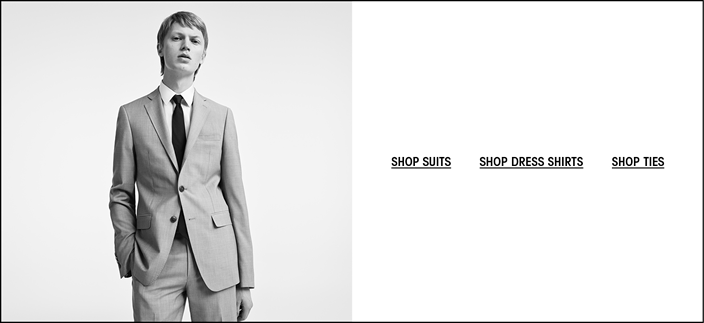 Shop Suits, Shop Dress Shirts, Shop Ties