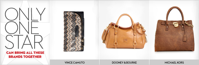 clearance designer handbags 6tjn  Only one star can bring all these brands together Vince Camuto, Dooney &  Bourke