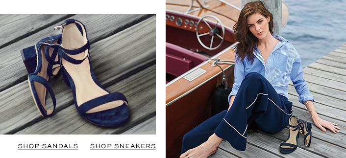 Shop Sandals, Shop Sneakers