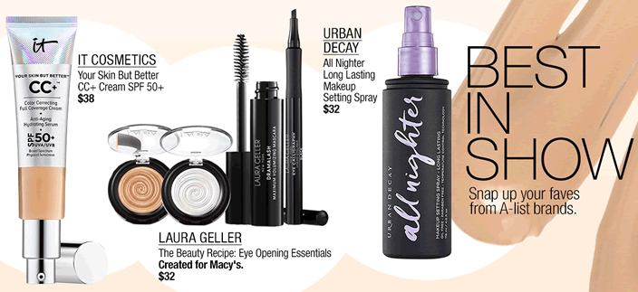 It Cosmetics, Laura Geller, Urban Decay, Best in Show, Snap up your faves from A-list brands