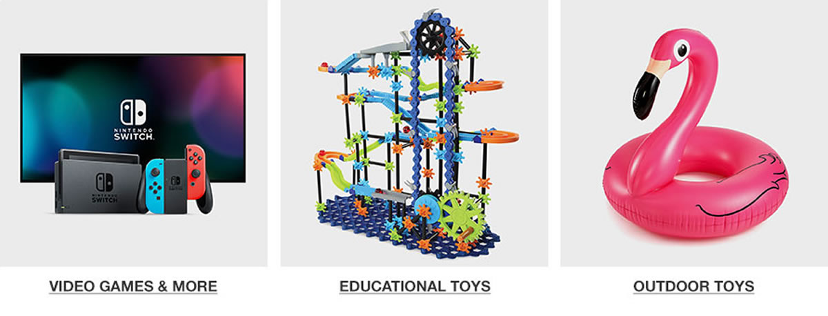 Video Games and More, Educational Toys, Outdoor Toys