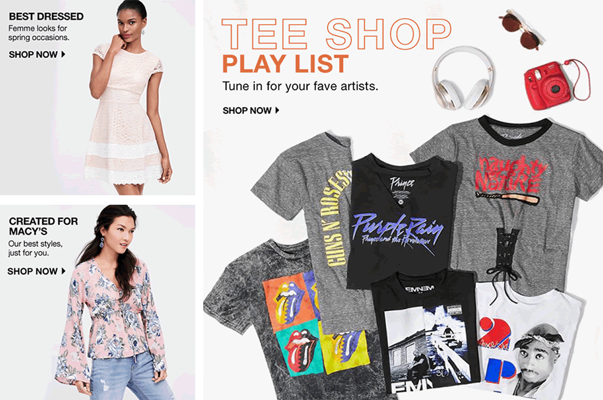 Best Dressed Shop now, Created for Macy's, Shop now, Tee Shop Paly List, Shop now