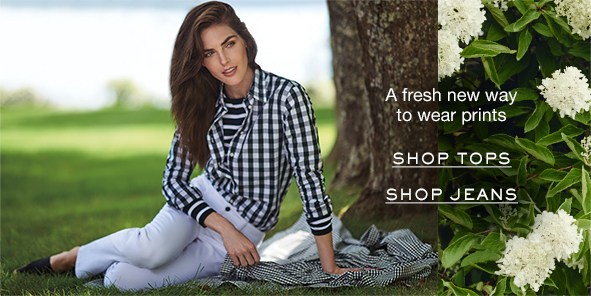 A fresh new way to wear prints, Shop tops, Shop Jeans