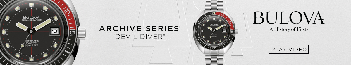 "Archive Series ""Devil Diver"" Bulova, Play Video"