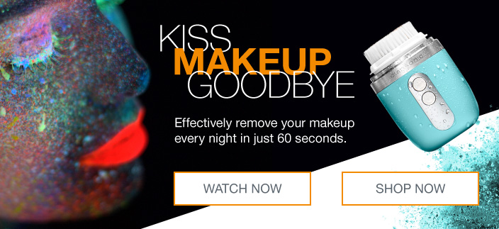 Kiss Makeup Goodbye, Effectively remove your makeup every night in just 60 seconds, Watch Now, Shop Now