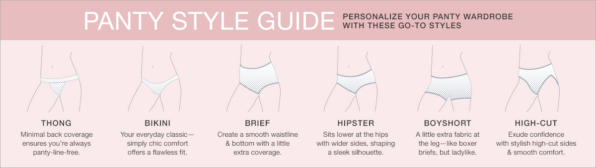 Panty Style Guide, Personalize Your Panty Wardrobe with These go-to Styles