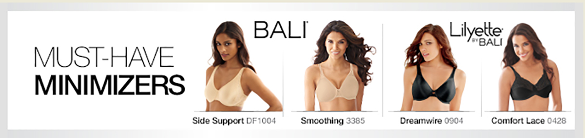 Must Have Minimizers, Bali, Side Support, Smoothing, Dreamwire, Comfort Lace