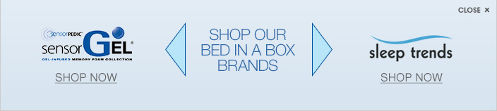 Sensorgel. Shop our bed in a box brands. Sleep trends.