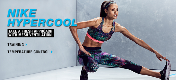 Nike Hypercool, Take a Fresh Approach with Mesh Ventilation, Training, Temperature Control