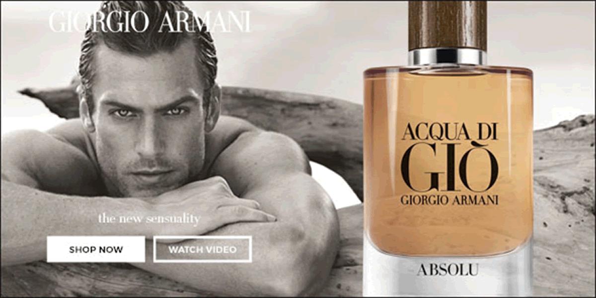 Giorgio Armani the new sensuality, Shop now, Watch the Video