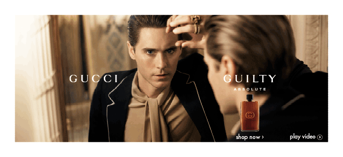 Gucci Guilty, Absolute, Shop now. Play video.