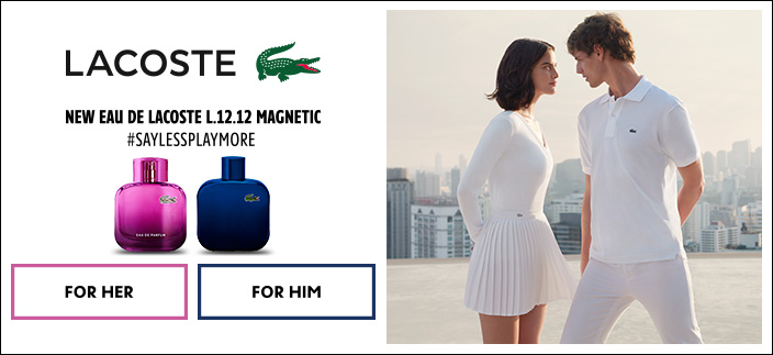 Lacoste, New Eau De Lacoste L.12.12 Magnetic #Saylessplaymore, For Her, For Him