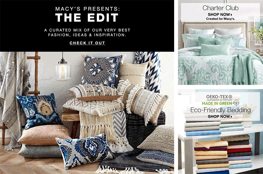 Macy's Presents: The Edit, Check It Out, Charter Club, Shop Now, Created for Macy's, Eco-Freindly, Shop Now