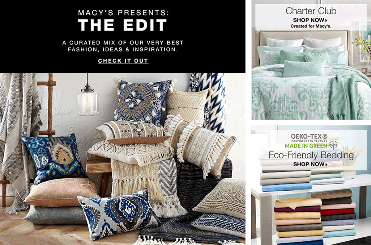 Macy's Presents: The Edit, Check It Out, Charter Club, Shop Now, Created for Macy's, Eco-Freindly Bedding, Shop Now