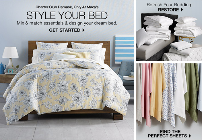 Charter Club Damask Only At Macy S Style Your Bed Mix And Match Essentials And