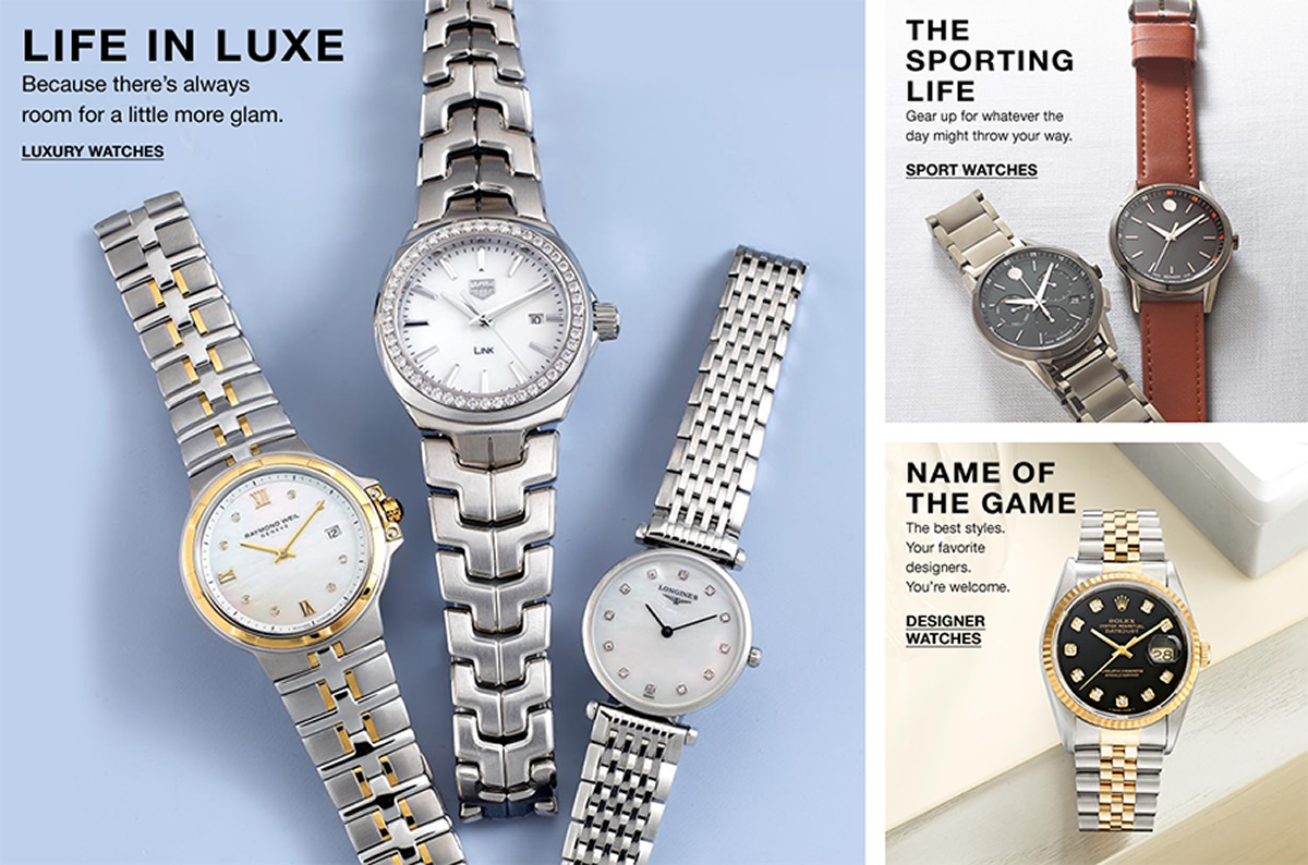 Life in Luxe, Because there's always room for a little more glam, Luxury Watches, The Sporting Life, Gear up for whatever the day might throw your way, Sport Watches, Name of The Game, The best styles, Designer Watches