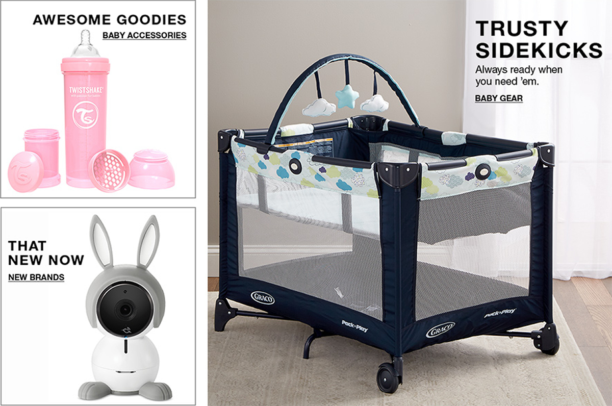 Awesome Goodies, Baby Accessories, That New Now, New Brands, Trusty Sidekicks, Always ready when you need 'em, Baby Gear