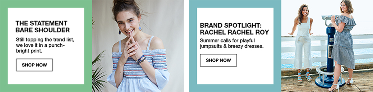 The Statement Bare Shoulder, Shop Now, Brand Spotlight Rachel Rachel Roy, Shop Now