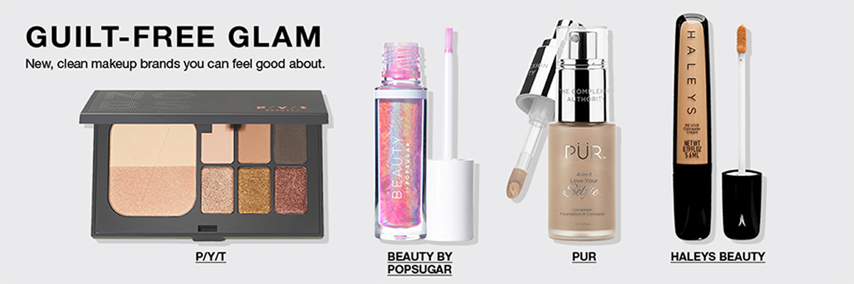 Guilt-Free Glam, New, clean makeup brands you can feel good about, P/Y/T, Beauty by Popsugar, PUR, Haleys Beauty