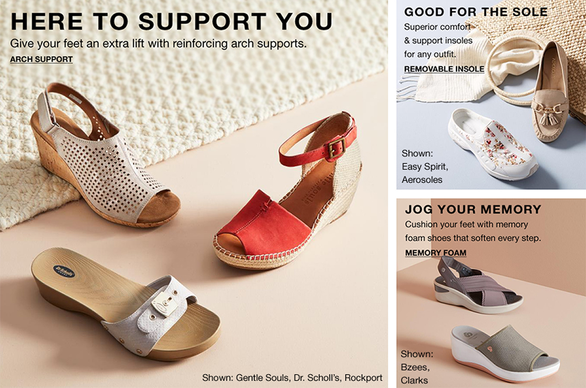 Here To Support You, Arch Support, Good For The Sole, Removable Insole, Jog Your Memory, Memory Foam