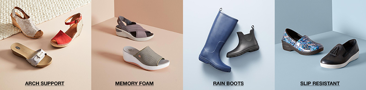 Arch Support, Memory Foam, Rain Boots, Slip Resistant