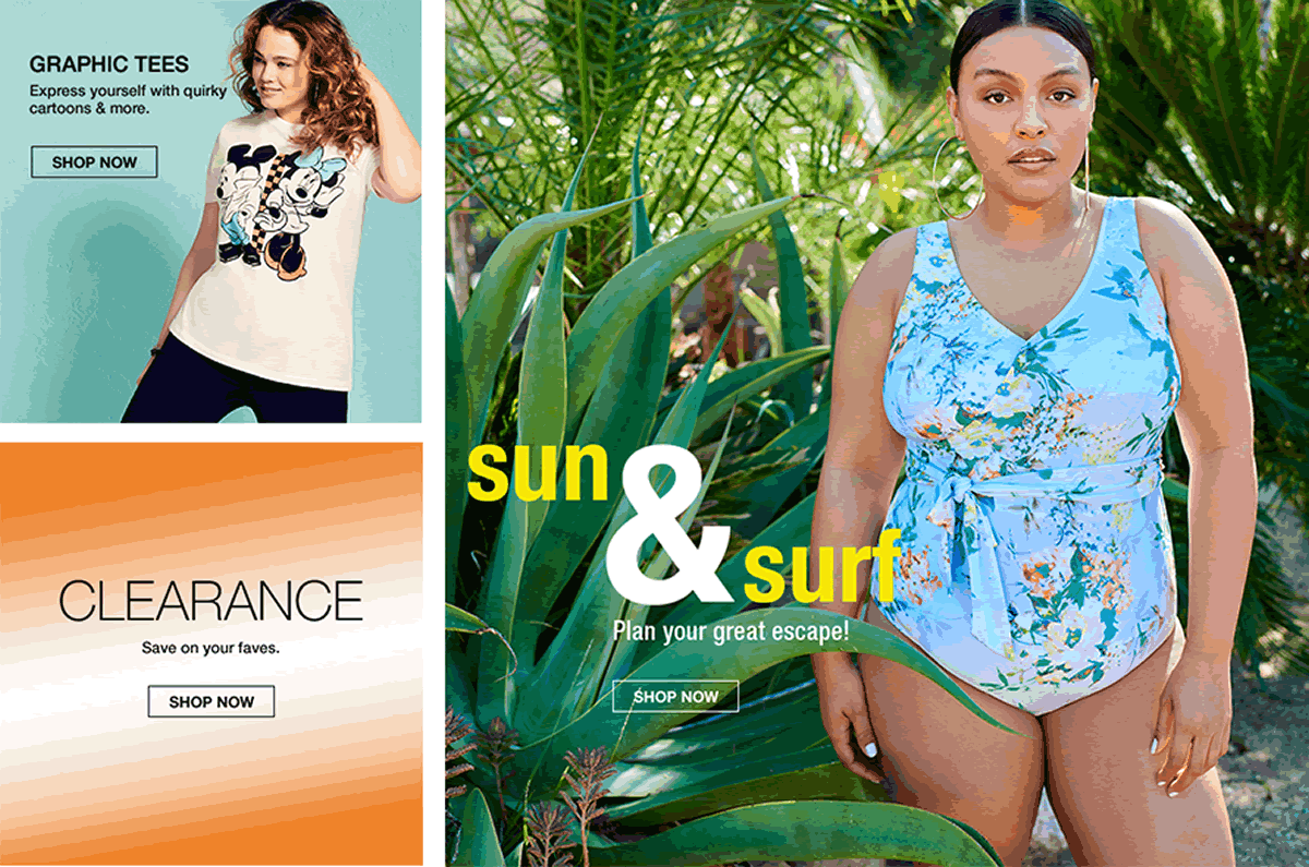 Graphic Tees, Shop Now, Clearance, Sun and Surf, Shop Now