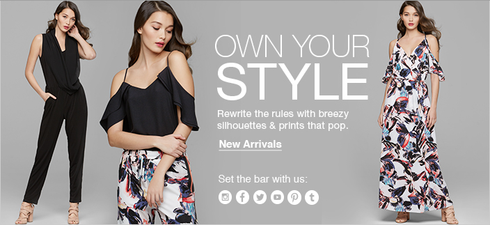 Own Your Style, Rewrite the rules with breezy silhouettes and prints that pop, New Arrivals