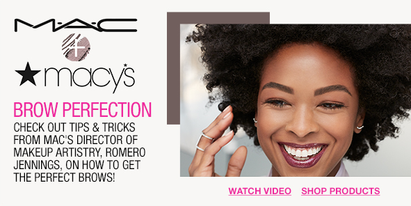 Brow Perfection, Check Out Tips and Tricks From Mac's Director of Makeup Artistry, Romeo Jennings, on How to Get The Perfect Brows! Watch Video, Shop Products