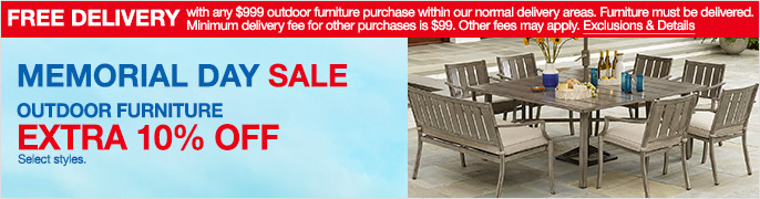 Free Delivery, Exclusions and Details, Memorial Day Sale, Outdoor Furniture,  Extra 10 - Outdoor And Patio Furniture - Macy's