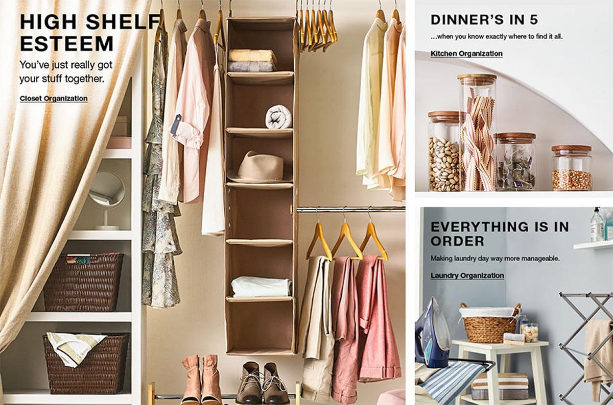 High Shelf Esteem, Closet Organization, Dinner's in 5, Kitchen Organization, Everything is in Order, Laundry Organization